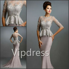 Mother Of The Bride Dresses Beads Sequins Lace Appliques Bridal Jackets Gowns