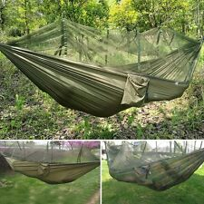 Travel Jungle Camping Outdoor Hammock Tent Hanging Nylon Bed + Mosquito Net New