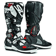 NEW Sidi Crossfire 2 SRS BLACK WHITE Enduro Motocross MX Dirtbike Boots