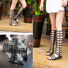 New Women Gladiator Sandals Shoes Thong Flat Strappy Flip Flops Toe Boots Summer