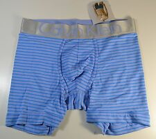 NWT MENS CALVIN KLEIN STRIPED STEEL MICROFIBER LOW RISE TRUNK UNDERWEAR SIZE M L