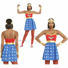Wonder Woman DC Comics LOGO Wings Fit Flare Strap Dress Cosplay Costume JR S-XL
