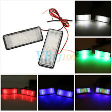 LED Rectangle Strobe Reflector Motorcycle Tail Brake Signal Light New Colorful