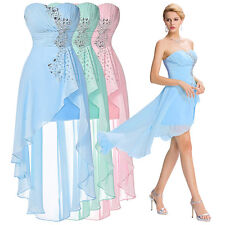Lady Formal Chiffon Ball Gown Evening Prom Party Cocktail Bridesmaid Mini Dress