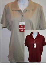 "NEW Womens ANTIGUA ""Desert Dry"" Performance GOLF POLO SHIRT s/s NWT NICE!"