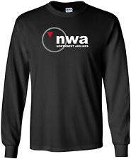 NWA Northwest Airlines Retro Logo US Airline Long-Sleeve T-Shirt