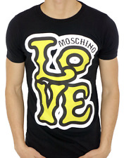 NEW MODEL - MOSCHINO - LOVE - YELLOW - MEN'S T-shirt - color: BLACK - all size