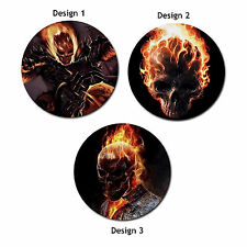 Ghost Rider Movie Heat-Resistant Round Mousepad Mouse Pad-3 Designs-New