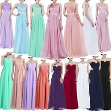 Lace Chiffon Long Bridesmaid Dresses Wedding Evening Formal Party Ball Prom Gown