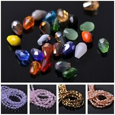 3mm Czech Glass Faceted Crystal Loose Spacer Teardrop Beads Jewellery Findings