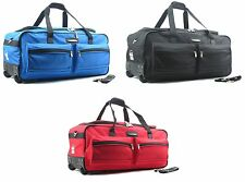 68cm Jeep Wheeled Holdall Travel Cargo Duffle Bag Suitcase Luggage Trolley