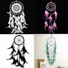 Various Handmade Dream Catcher Net Feathers Wall Car Hanging Decor Ornament