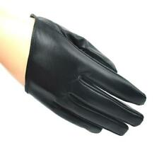 5 Fingers Half Palm Genuine Leather Gloves