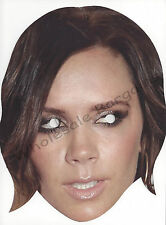 Victoria Beckham Posh Spice Celebrity Face Mask, Card Face Fancy Dress Mask Lot