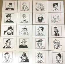 Official Moulinsart Tintin Character Prints by Herge BUY INDIVIDUALLY B & W