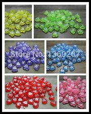 Rave Kandi Mixed Letter Beads 500 heart shape Acrylic alphabet transparent Mixed