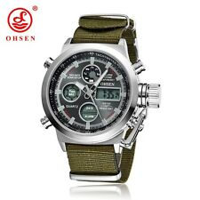 OHSEN Brand Men Sports Watches LED Digital Quartz Fashion Watch Outdoor Fabric W