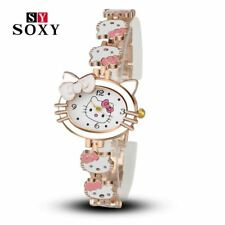 Women Child Cartoon Bracelet Watch Hello Kitty Fashion Casual Dress Quartz Wrist