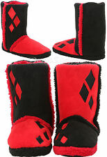 Suicide Squad DC Comics HARLEY QUINN Womens Slippers Boots Plush House Shoes new