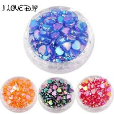 Wholesale 200pcs About 36g AB Color Acrylic Beads 8mm Heart Spacers for Jewelry