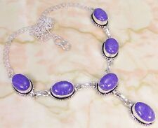 """Lab Charoite & 925 Silver Handmade Stunning Necklace 18"""" HP-10001"""
