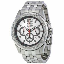 Invicta 7457 Mens Silver Dial Analog Quartz Watch with Stainless Steel Strap