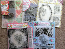 Embossing Folder, papers/vellums sets - 5 to choose from hearts, flowers, lace