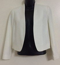 Ex NEW WALLIS Smart Tailored Fit White Structured Soft Blazer Jacket Size 8-18