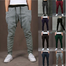 MEN Casual Jogger Dance Harem Sport Pants Baggy Slacks Harem Trousers Sweatpants