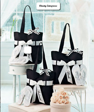 *Bridal Party Matching Tote & Flip Flops  Set Beach Summer Island Wedding Gift*