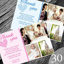 Personalised Photo Boy / Girl CHRISTENING / Baptism / THANK YOU cards (CTY30)