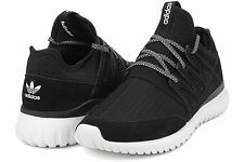 New Mens Adidas Tubular Radial Athletic Shoes 13 Mesh Core Black White S80114