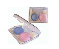 Contact Lens Case With Tweezer, Cleaning Solution container and safety Capsules