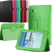 "Leather Stand Case Cover For SAMSUNG Galaxy Tab 2 7.0"" P3100 Screen Protector"