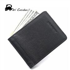 DERI CUZDAN Fashion Genuine Cowhide Leather Mens Wallet Money Clips with card Cl