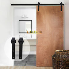 2.5-20FT Country Sliding Barn Door Hardware Closet Track Kit ,Single&Double Door