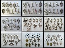 HOCKEY SOCCER VOLLEYBALL Sport Charm Collections 3D Silver-tone Tibetan Style