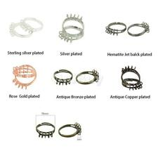 10 Pieces Adjustable Brass Blank Ring Base with 10 Loops DIY Jewelry Makings