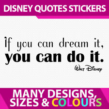 Wall Room Stickers Decal Vinyl Sign  - Walt Disney Quote If You Can Do It