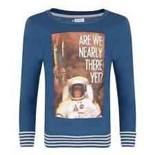 Boys Blue Jumper Top Shirt T-shirt Are We Nearly There Yet Space 2-3 3 4 5 6 Age