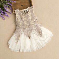 Flower Baby Girls Kids Princess Pageant Wedding Party Flower Tulle Tutu Dresses