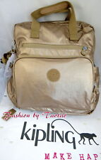 New w Tag Kipling Audrie Diaper Bag Backpack w Changing Pad, Furry Monkey
