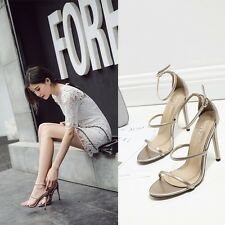 Fashion Open Toe  Ankle Strap  Buckle Stiletto High Heels OL Sandal Ladies Shoes