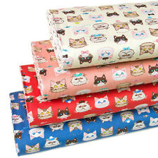 Japanese Fabric Textile For Sewing Oxford Cotton Fabric Cat From Japan 1/2 yard