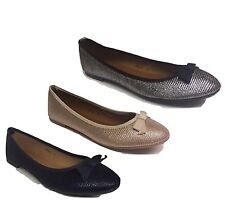 WOMENS LADIES FLAT PUMPS BLACK SILVER GOLD GLITTER BALLET BALLERINA DOLLY SHOES