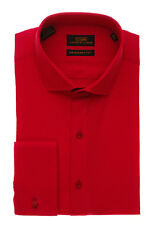 Dress Shirt by Steven Land  French Cuff -Red- DM1260-RD