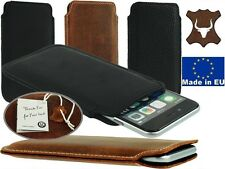 SLIM POCKET CASE COVER MADE OF GENUINE LEATHER SLEEVE POUCH FOR MOBILE PHONES
