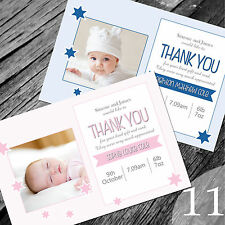 Personalised New Baby Thank You Cards / Announcement (NB11)