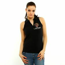 NEW Ed Hardy by Christian Audigier Tiger Women top black and gold sleevless