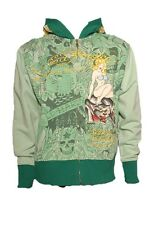 New Ed Hardy by Christian Audigier HOLLYWOOD dream Platinum HOODIE green yellow